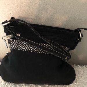 Thirty One Black Shoulder Bag Expandable